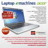 Laptop z Biedronki AMD Phenom II N970 Quad Core