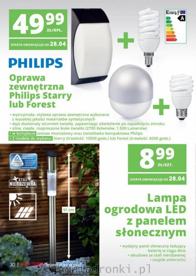 Hustawka Ogrodowa Z Biedronki 2015 : Lampa ogrodowa LED z panelem słonecznym i czujnikiem zmierzchu oraz