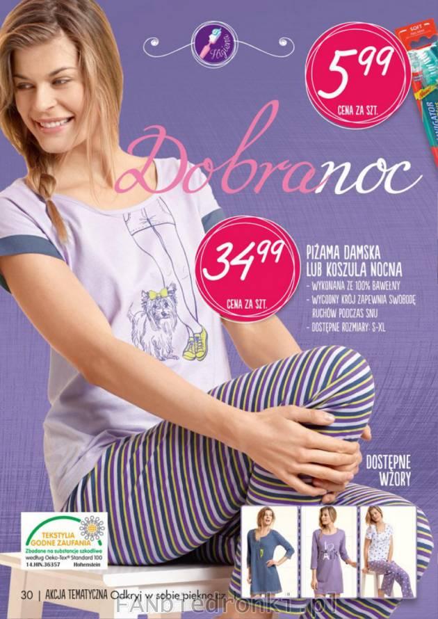 9f031504b5e667 Luźne piżamy i koszule nocne w 4 wzorach do wyboru za 34,99 zł.