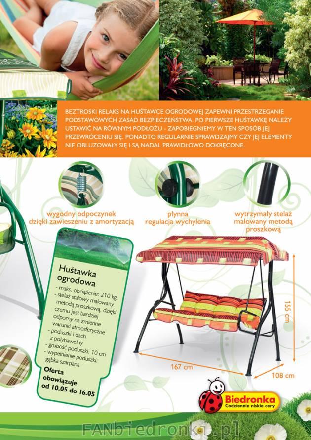 Hustawka Ogrodowa Z Biedronki 2015 : Biedronka gazetka od 7 maja 2012  sprzęt ogrodowy, meble ogrodowe